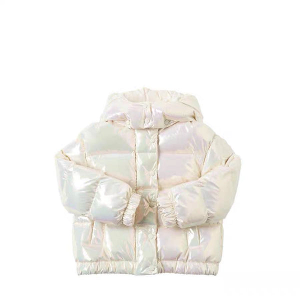 Girls Multicolor Padded Down Jacket