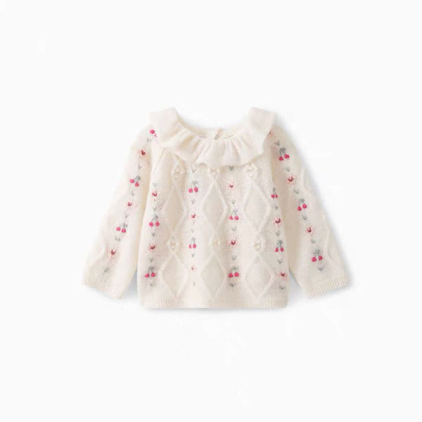 Baby Girls Off White Jumper