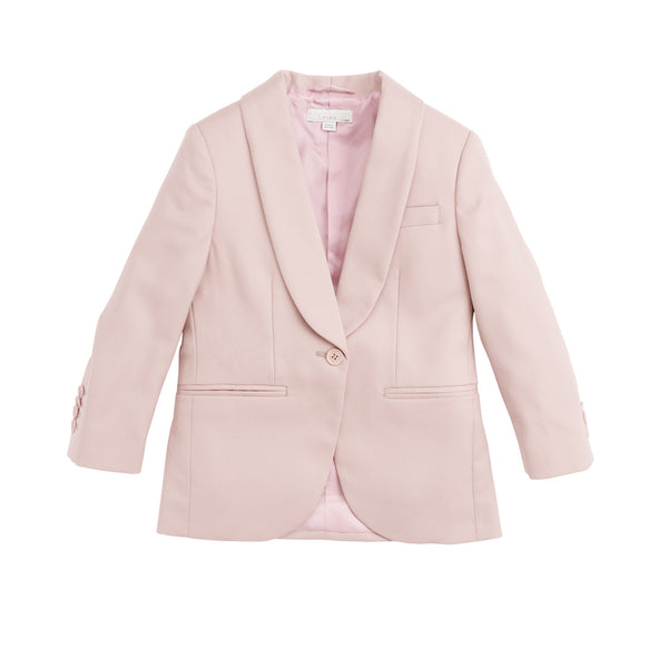 Girls Peach Pink Wool Suit