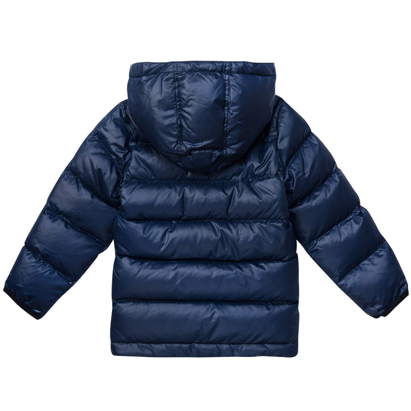 Boys Navy Blue Hooded Puffer Jacket - CÉMAROSE | Children's Fashion Store - 3