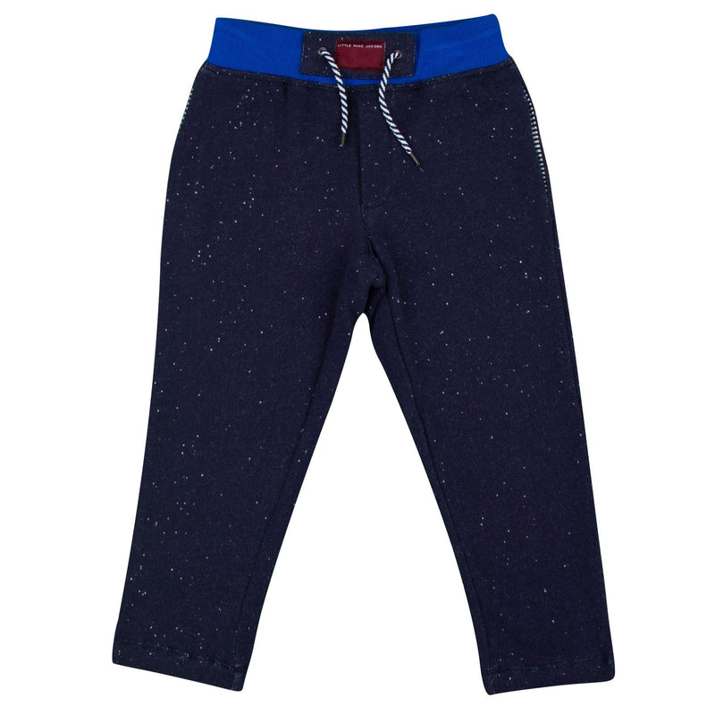 Boys Navy Blue Cotton Jersey Trousers - CÉMAROSE | Children's Fashion Store - 1
