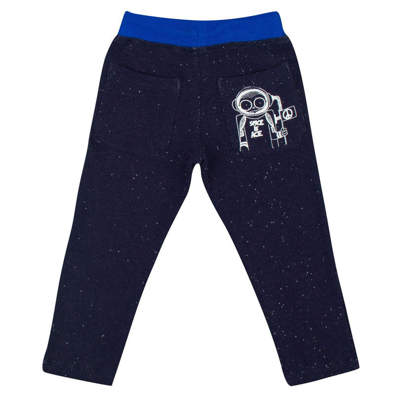 Boys Navy Blue Cotton Jersey Trousers - CÉMAROSE | Children's Fashion Store - 2