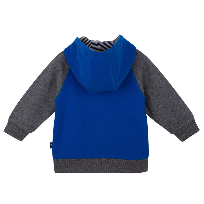 Baby Boys Blue&Grey Hooded Tracksuit - CÉMAROSE | Children's Fashion Store - 2