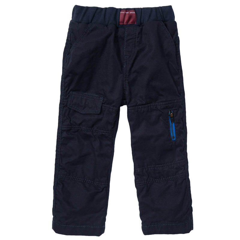 Baby Boys Navy Blue Cargo Trousers - CÉMAROSE | Children's Fashion Store - 1