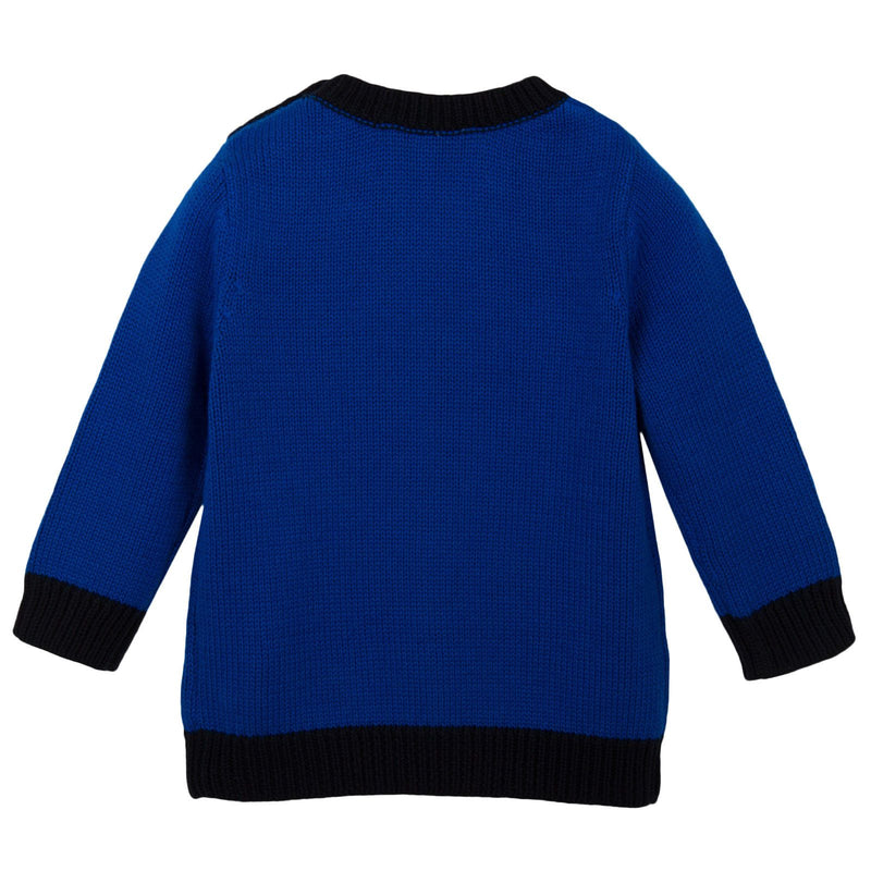 Baby Boys Blue 'Mr Marc' Knitted Sweater - CÉMAROSE | Children's Fashion Store - 2