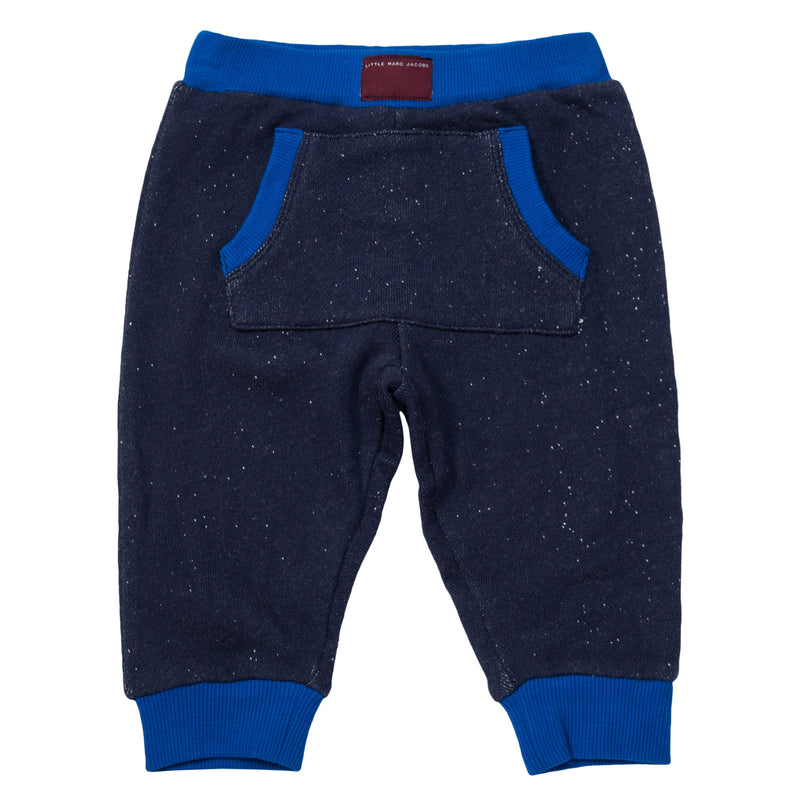 Baby Boys Navy Blue Elastic waisted Trousers - CÉMAROSE | Children's Fashion Store - 1