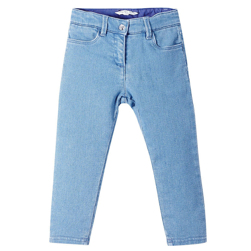 Baby Girls Light Blue Denim Stretch Jeans - CÉMAROSE | Children's Fashion Store - 1