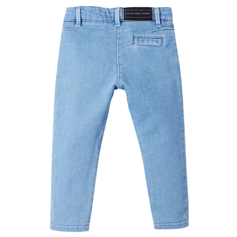 Baby Girls Light Blue Denim Stretch Jeans - CÉMAROSE | Children's Fashion Store - 2