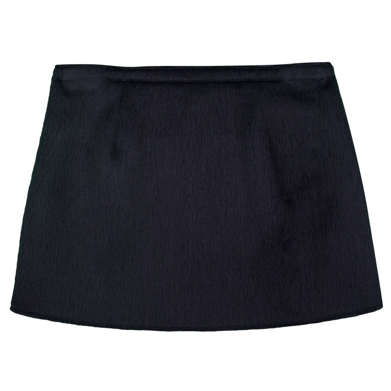 Girls Navy Blue Pasted Synthetic Fur Acrylic Skirt - CÉMAROSE | Children's Fashion Store - 1