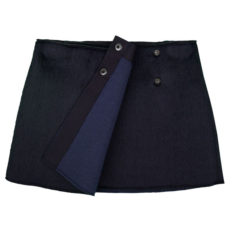 Girls Navy Blue Pasted Synthetic Fur Acrylic Skirt - CÉMAROSE | Children's Fashion Store - 2