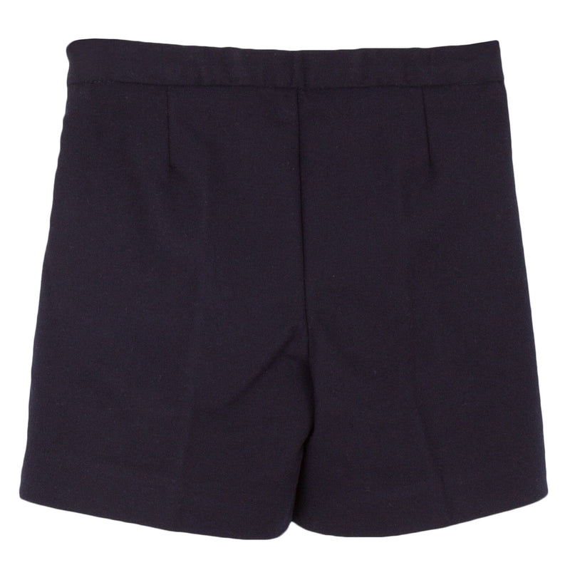 Girls Dark Grey Synthetic Wool Bermuda Short - CÉMAROSE | Children's Fashion Store - 2