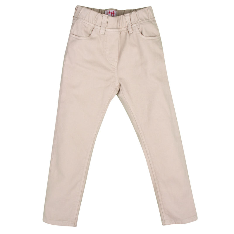 Girls Beige Ribbed Cotton Trousers - CÉMAROSE | Children's Fashion Store - 1