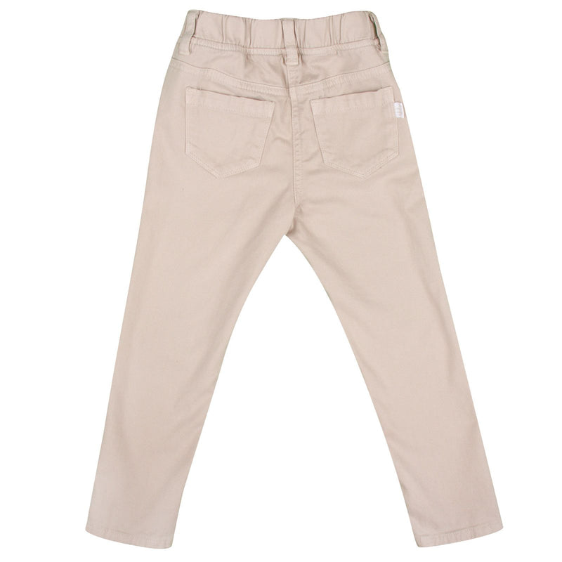 Girls Beige Ribbed Cotton Trousers - CÉMAROSE | Children's Fashion Store - 2