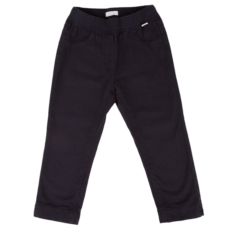 Baby Girls Navy Blue Elastic Waistband Trousers 1444 - CÉMAROSE | Children's Fashion Store - 1
