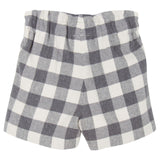 Baby Girls Grey Check Bermuda Shorts - CÉMAROSE | Children's Fashion Store - 2