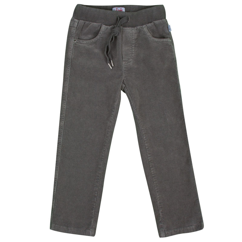 Boys Grey Elastic Waistband Cotton Trousers - CÉMAROSE | Children's Fashion Store - 1