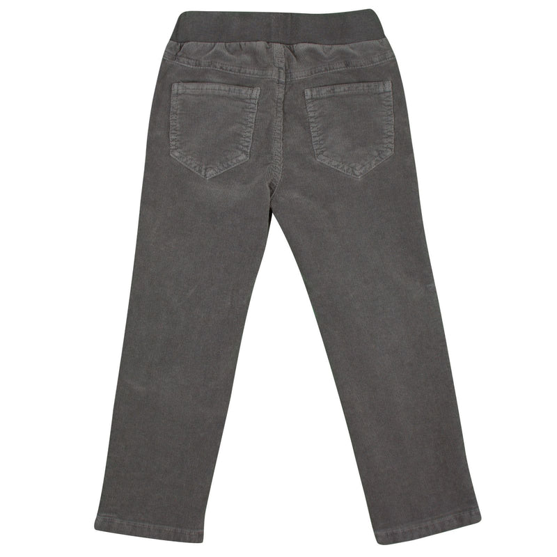 Boys Grey Elastic Waistband Cotton Trousers - CÉMAROSE | Children's Fashion Store - 2
