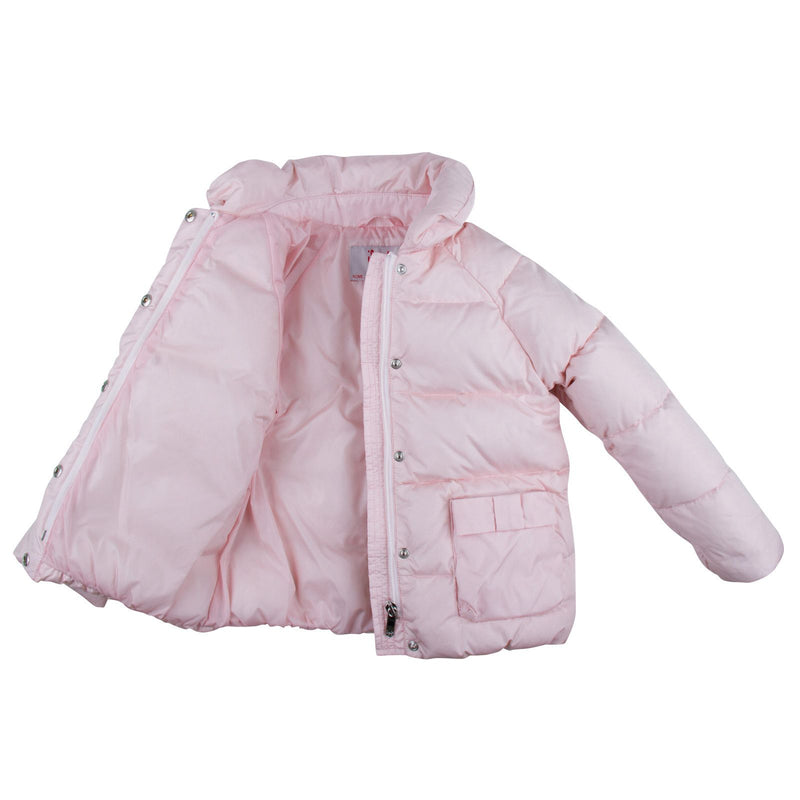 Baby Girls Pink Fur Trims Down Padded Hooded Jacket - CÉMAROSE | Children's Fashion Store - 3