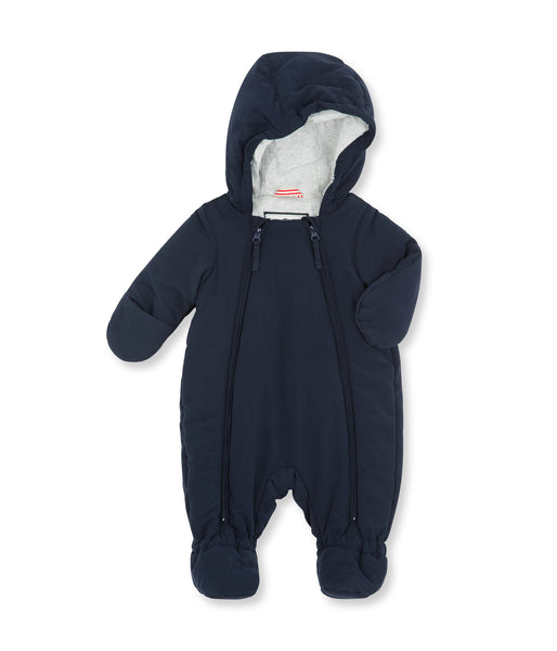 Baby Boys Navy Padded Down Babysuits