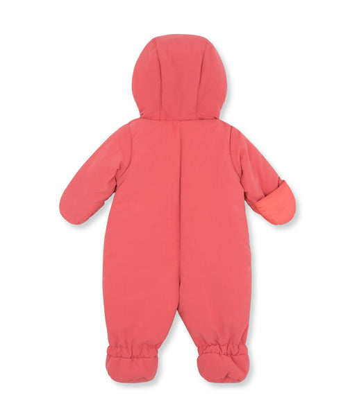 Baby Girls Pink Padded Down Babysuits