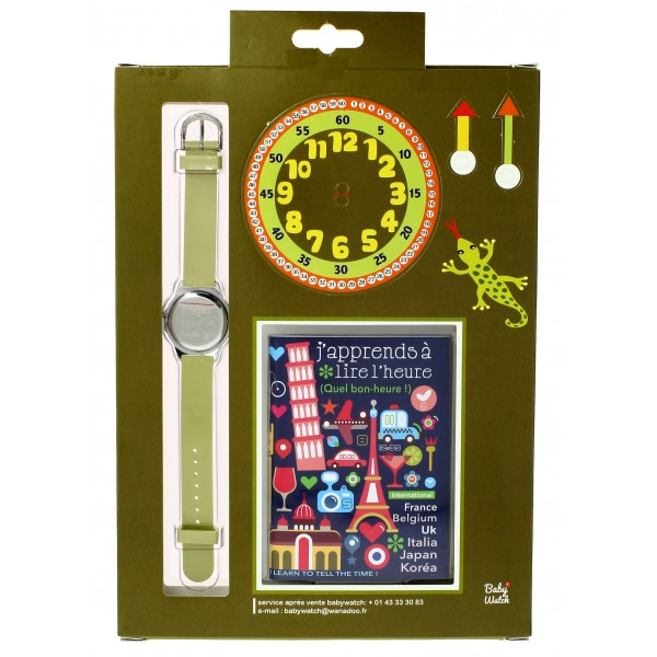 Boys Green Brown Jungle Watch(6-9Y)