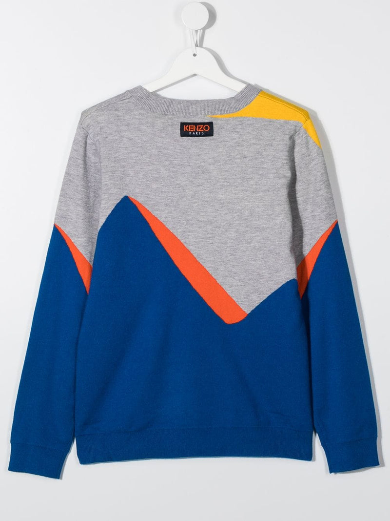 Boys Grey & Blue Sweater