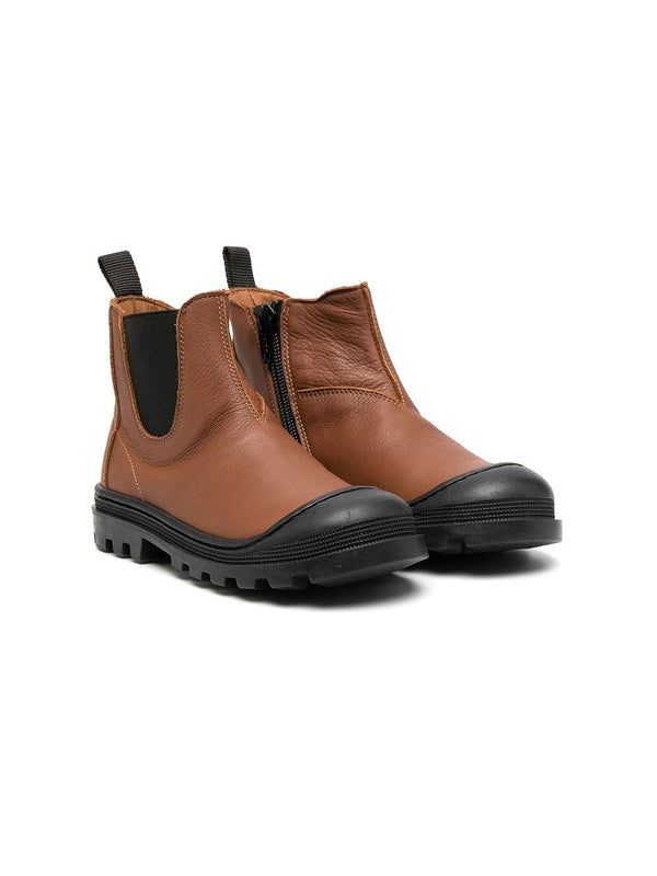 Boys & Girls Brown Leather Boots