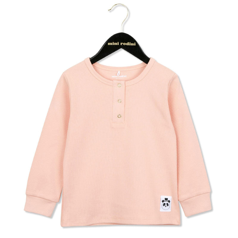 Girls Light Pink Cotton T-Shirt With Panda Label - CÉMAROSE | Children's Fashion Store - 1