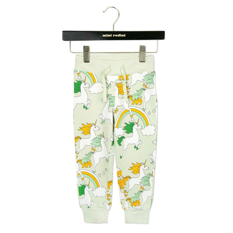 Baby Green Unicorns Printed Cotton Trousers - CÉMAROSE | Children's Fashion Store