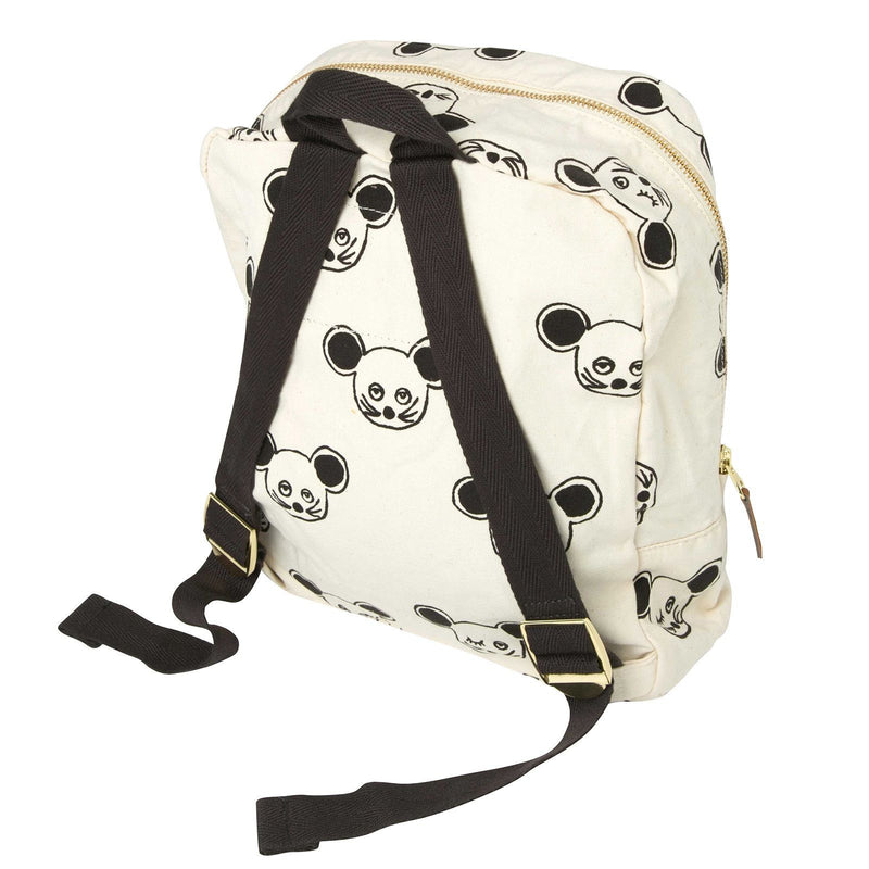 Boys&Girls White Cotton Backpack With Black Mouse Print - CÉMAROSE | Children's Fashion Store - 2