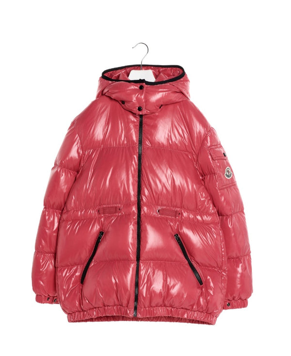 Girls Pink Padded Down Jacket