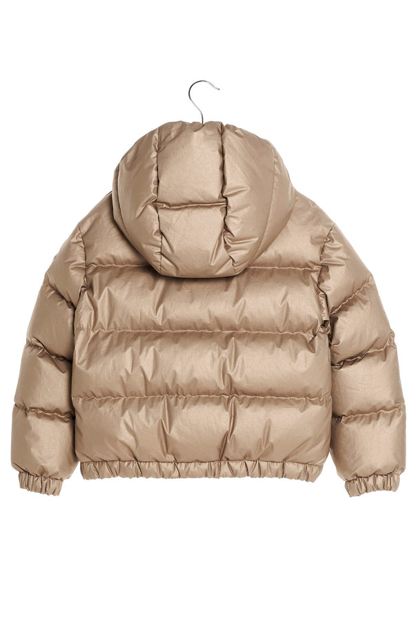 "Girls Gold 'DAOS"" Padded Down Jacket"