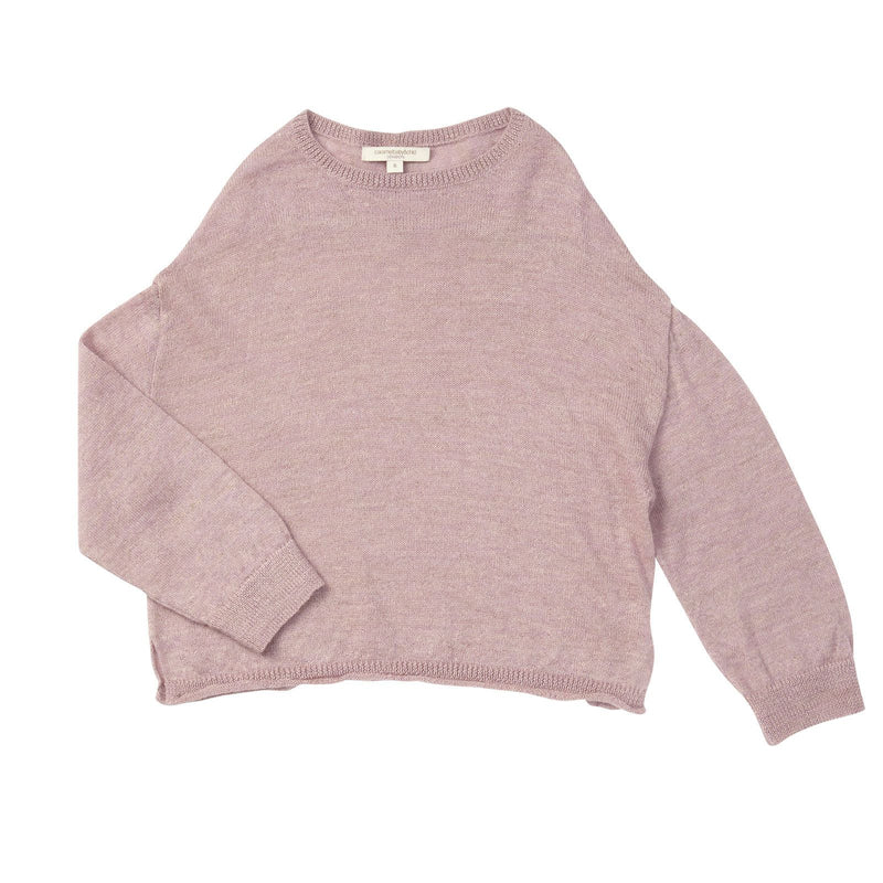 Boys Light Pink Wool Knitted Sweater - CÉMAROSE | Children's Fashion Store - 1