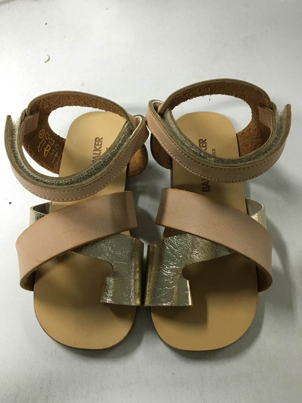 Girls Beige & Gold Two Tone Sandal - CÉMAROSE | Children's Fashion Store
