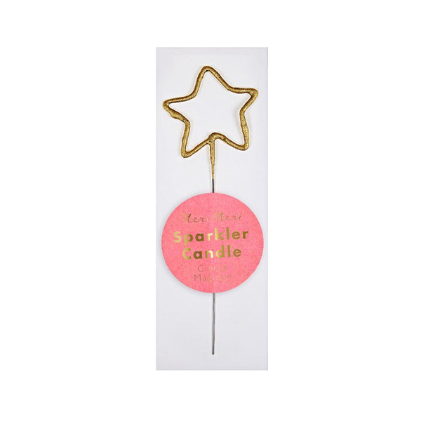 Gold Sparkler Star Mini Candle