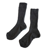 Boys & Girls Brown Coal Cotton Socks