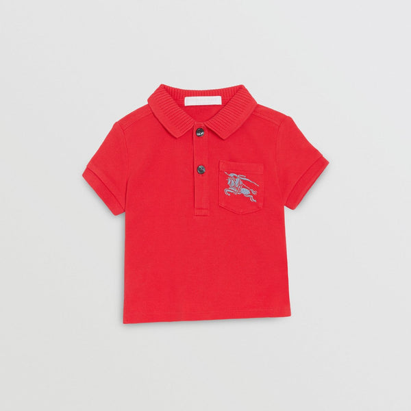 Baby Boys Bright Red Cotton Polo Shirt