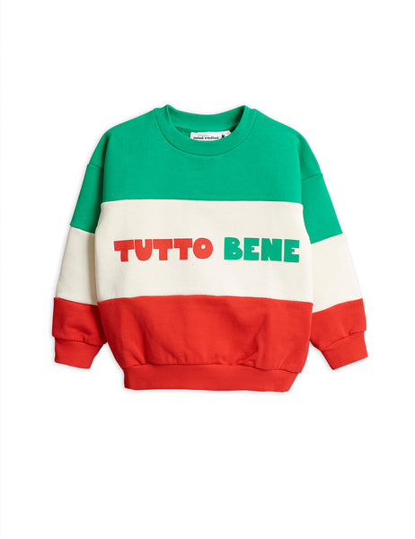 Boys & Girls Green & Red Cotton Sweater