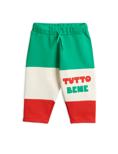 Boys & Girls Green & Red Cotton Sweat Trousers