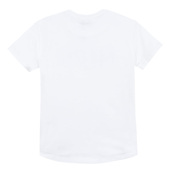 Boys Optic White Logo Cotton T-shirt