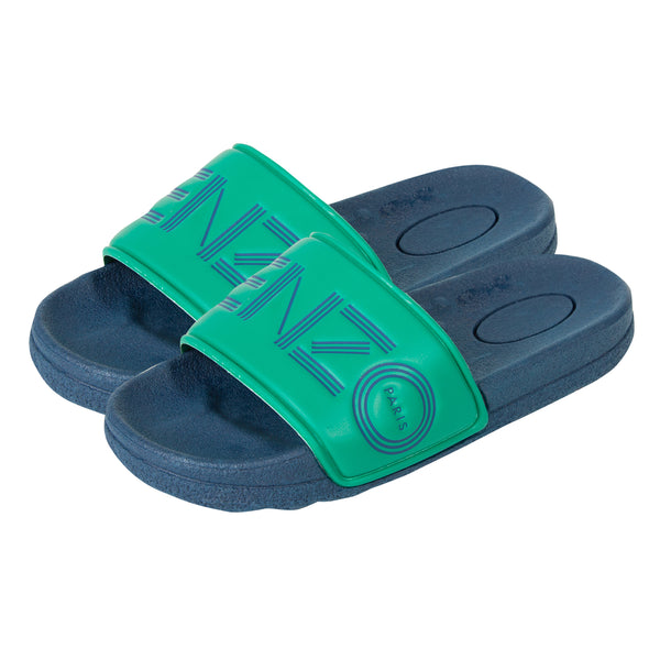 Boys Dark Blue Logo Flip Flop