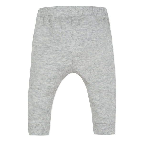 Baby Boys Grey Logo Cotton Trousers