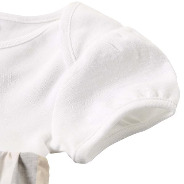 Baby Girls White & Check Cotton Dress