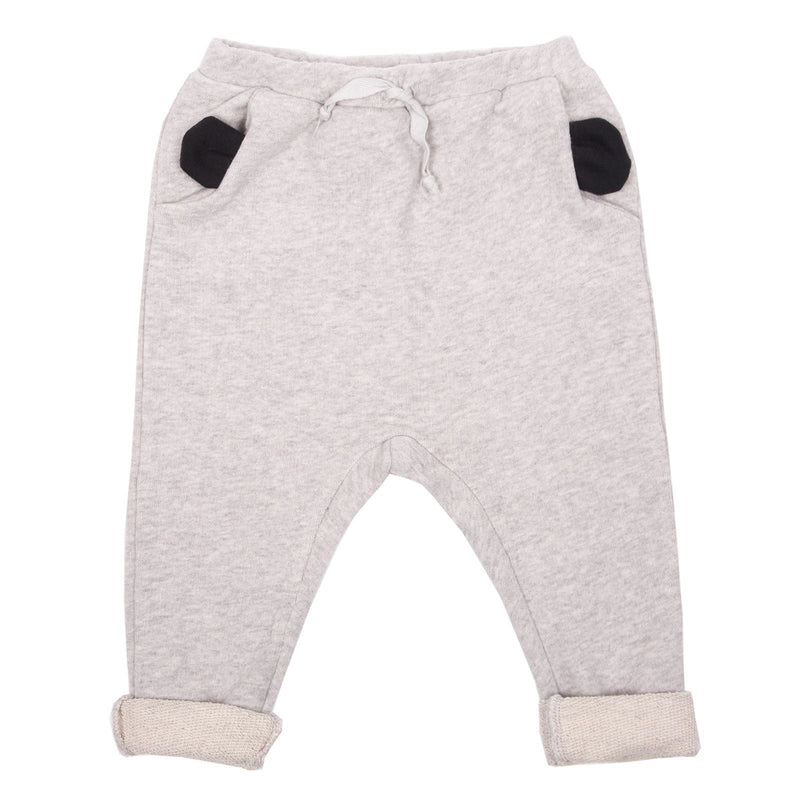 Baby Grey Cotton Trousers With Ear Trims Pockets - CÉMAROSE | Children's Fashion Store