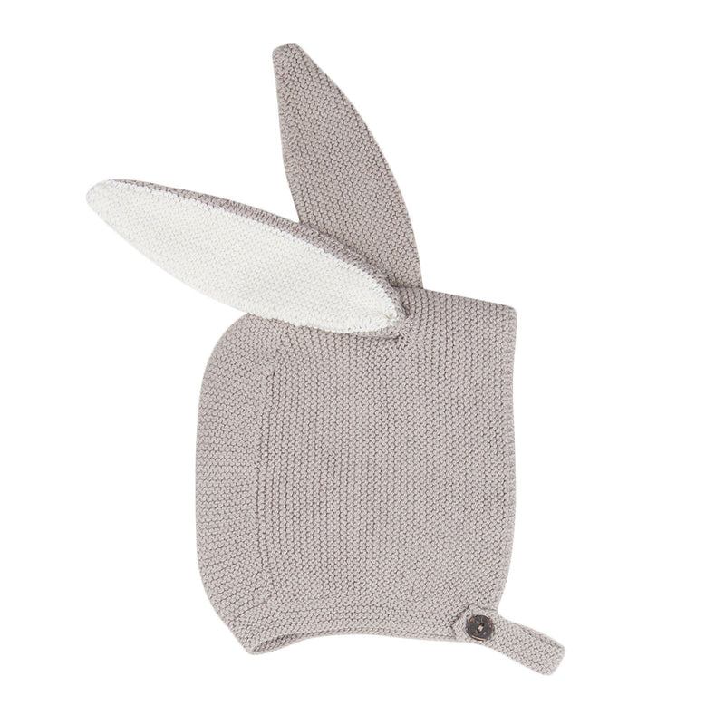 Baby Grey Alpaga Wool Bunny Ears Earflaps Hats - CÉMAROSE | Children's Fashion Store