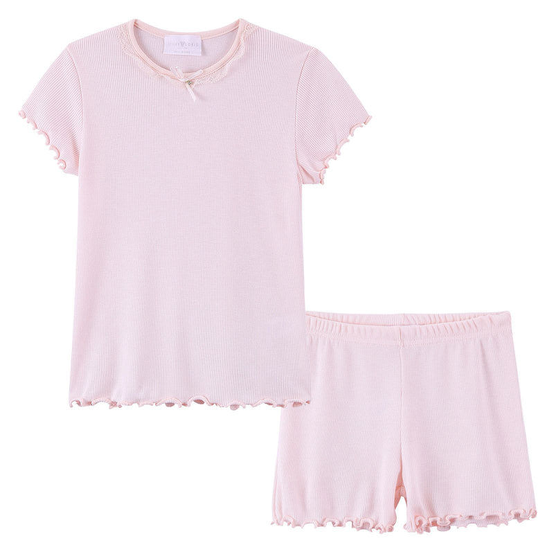 Girls Light Pink Top&Bottom  Pyjama - CÉMAROSE | Children's Fashion Store - 1