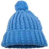 Sprarky Girls Blue Wool Blend Hat With Pompom - CÉMAROSE | Children's Fashion Store - 1