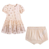 Baby Girls Pink Dress & Shorts