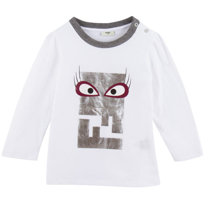 Baby Boys White Cotton Monster Printed T-Shirt - CÉMAROSE | Children's Fashion Store - 1