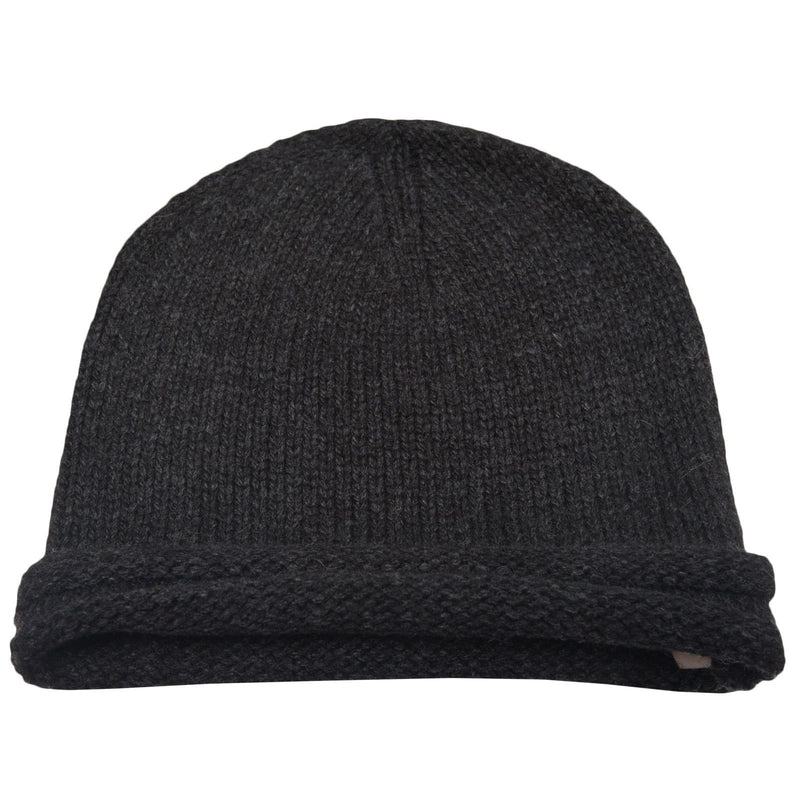 Boys Black Knitted Wool Hat - CÉMAROSE | Children's Fashion Store - 1